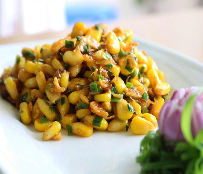 Cách làm bắp xào ruốc đơn giản, dễ làm cho món ngon bổ dưỡng